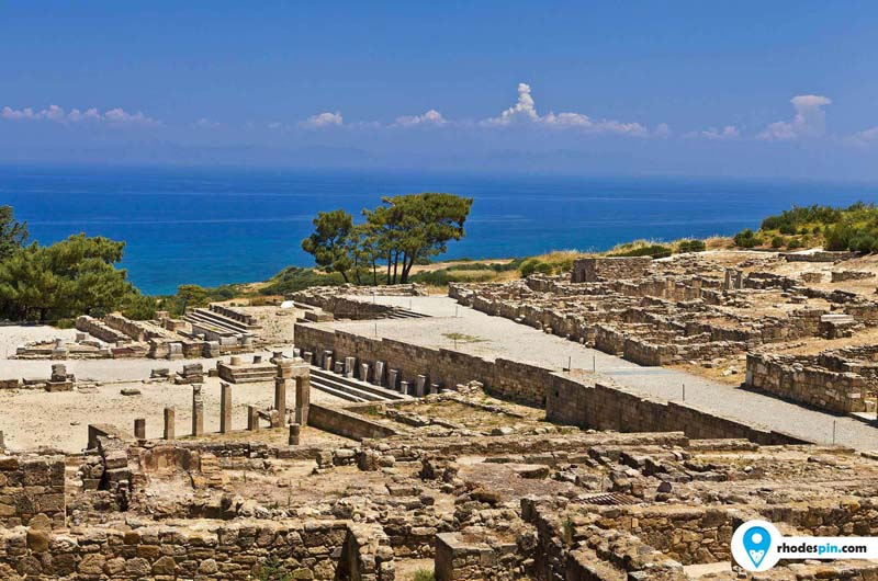 Ancient city of Kameiros on the island of Rhodes