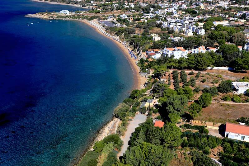 Pefkos-aerial-beach